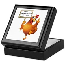 Hug A Vegetarian Today Keepsake Box