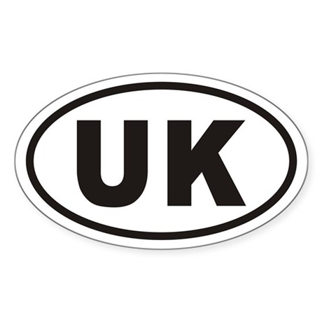 UK United Kingdom Euro Oval Sticker