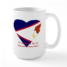 Samoan American fan flag Mug