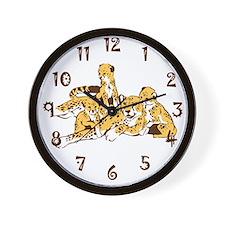 Cheetah Family Wall Clock