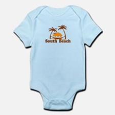 South Beach - Palm Trees Design. Infant Bodysuit