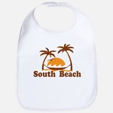 South Beach - Palm Trees Design. Bib