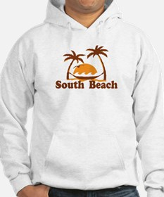 South Beach - Palm Trees Design. Jumper Hoody