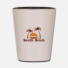 South Beach - Palm Trees Design. Shot Glass