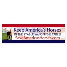 Save Americas Horses Bumper Bumper Bumper Sticker