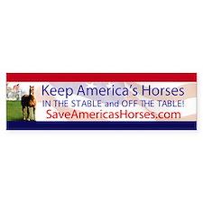 Save Americas Horses Bumper Bumper Sticker