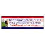 Save Americas Horses Bumper Sticker