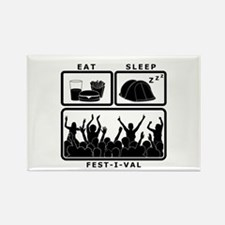 Eat Sleep Festival (black) Rectangle Magnet
