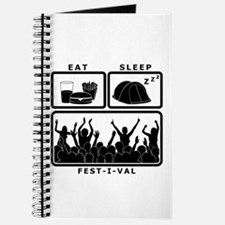 Eat Sleep Festival (black) Journal