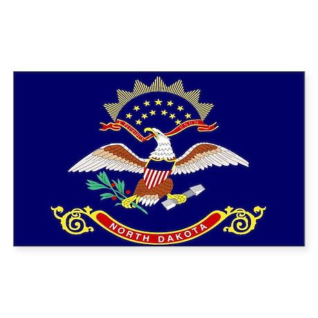 North Dakota Rectangle Sticker