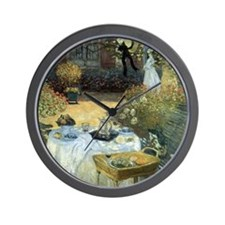 The Luncheon by Claude Monet Wall Clock