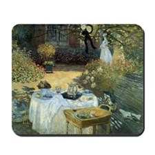 The Luncheon by Claude Monet Mousepad