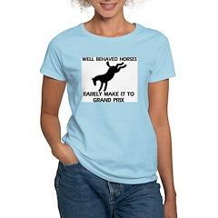 Well Behaved Horses Women's Pink T-Shirt