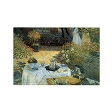 The Luncheon by Claude Monet Rectangle Magnet