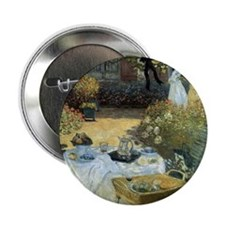 """The Luncheon by Claude Monet 2.25"""" Button"""