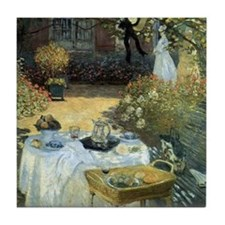 The Luncheon by Claude Monet Tile Coaster