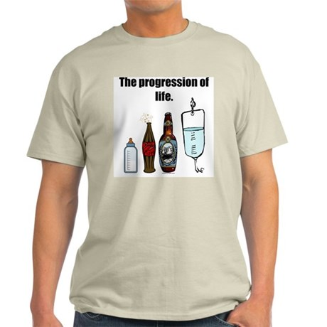 Progression of Life Ash Grey T-Shirt