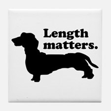 Length Matters Tile Coaster