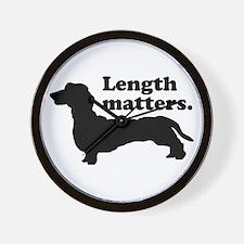 Length Matters Wall Clock