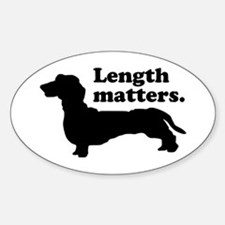 Length Matters Oval Decal