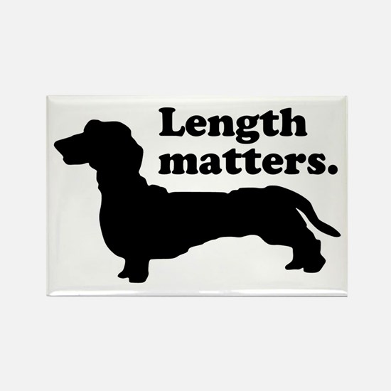 Length Matters Rectangle Magnet