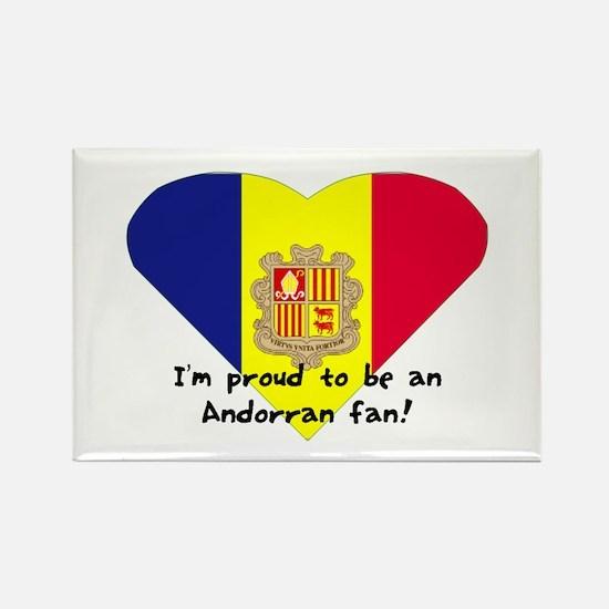 Andorra's fan flag Rectangle Magnet