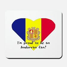 Andorra's fan flag Mousepad