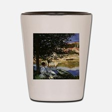 On the Bank of Seine by Claude Monet Shot Glass