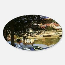 On the Bank of Seine by Claude Mone Decal