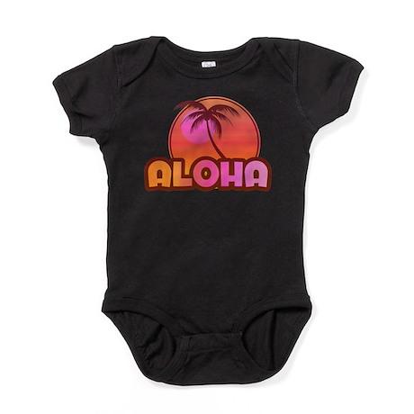 Pink Aloha Palm Baby Bodysuit