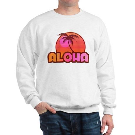 Pink Aloha Palm Sweatshirt