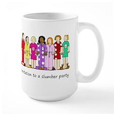 Invitation to a slumber party. Mug