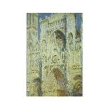 Rouen Cathedral by Claude Monet Rectangle Magnet