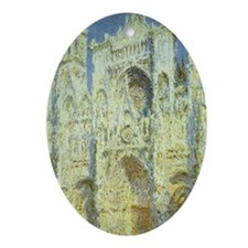 Rouen Cathedral by Claude Monet Oval Ornament