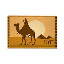 Egypt - Camels Rectangle Magnet