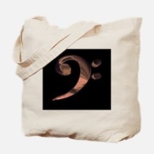 Bass Clef in Metal Tote Bag