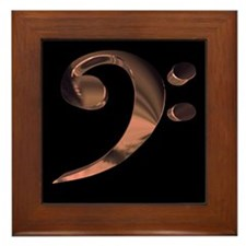 Bass Clef in Metal Framed Tile