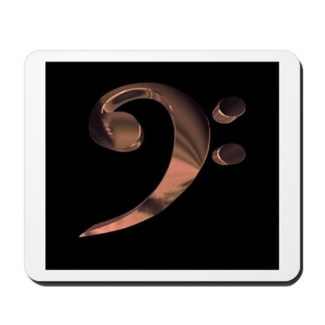 Bass Clef in Metal Mousepad