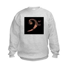Bass Clef in Metal Sweatshirt