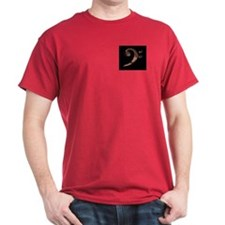 Bass Clef in Metal T-Shirt