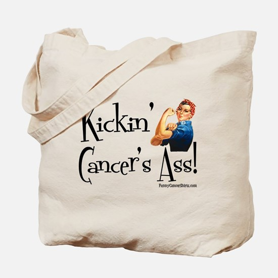 Kickin' Cancer's Ass! Tote Bag