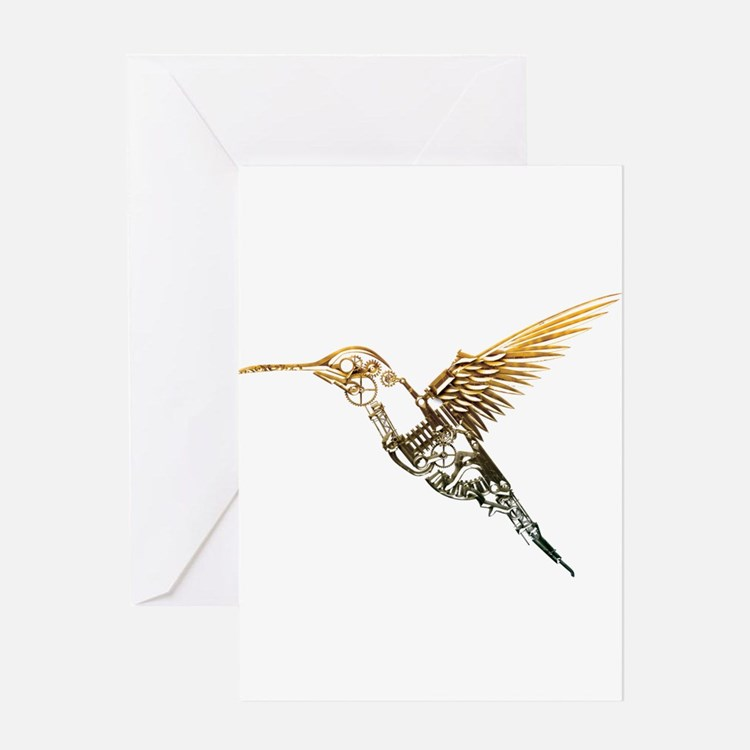 Industrial Hummingbird Greeting Card