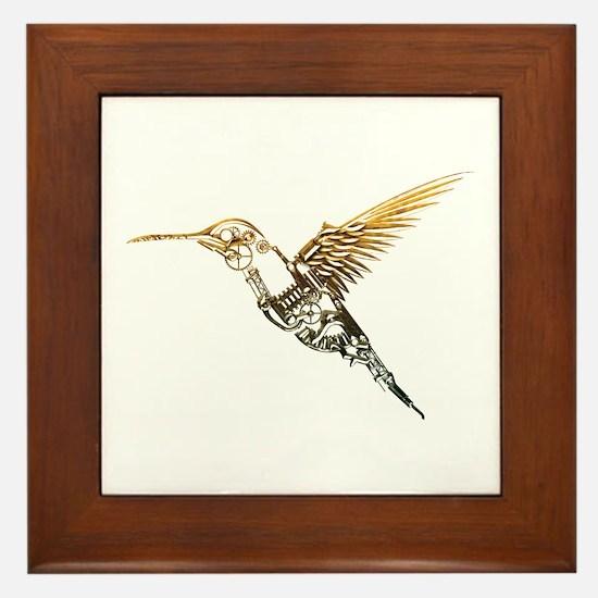 Industrial Hummingbird Framed Tile