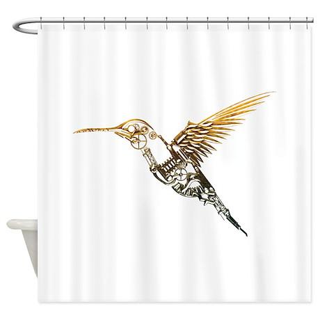 Industrial Hummingbird Shower Curtain By Serendipity Uk