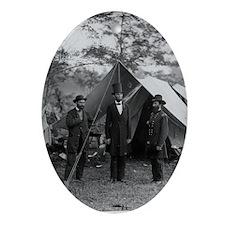Lincoln by Brady Oval Ornament