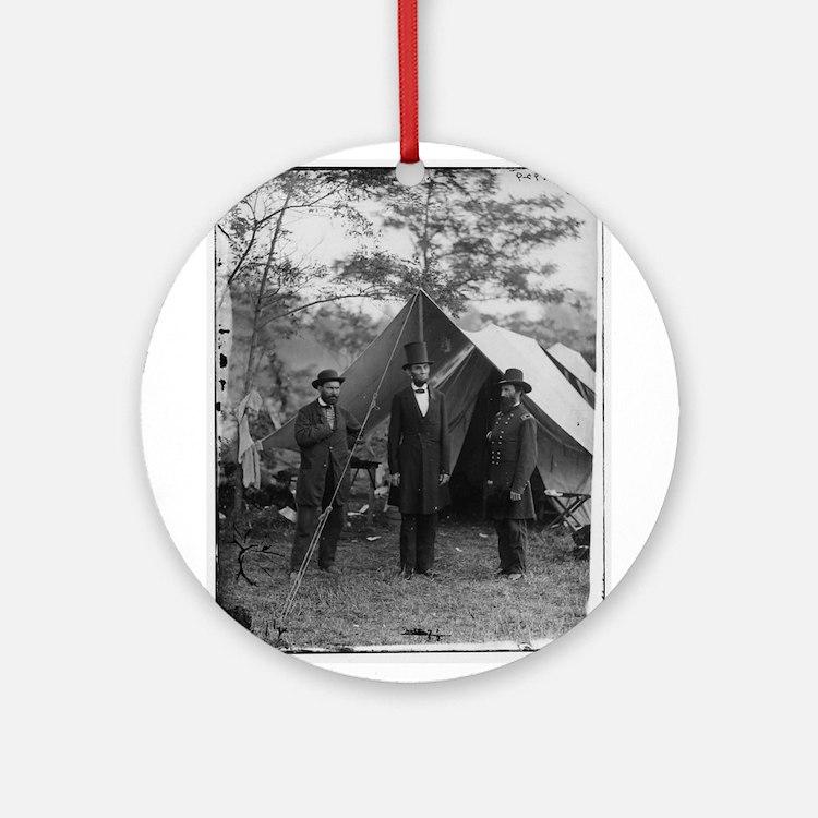 Lincoln by Brady Ornament (Round)