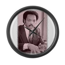 Jesse Jackson Large Wall Clock