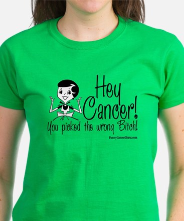 Cancer Picked the Wrong Bitch! Women's Dark T-Shir