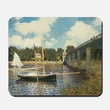 Highway Bridge by Claude Monet Mousepad