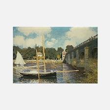 Highway Bridge by Claude Monet Rectangle Magnet